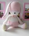 Szydełkowy królik amigurumi. Maskotki na szydełku.