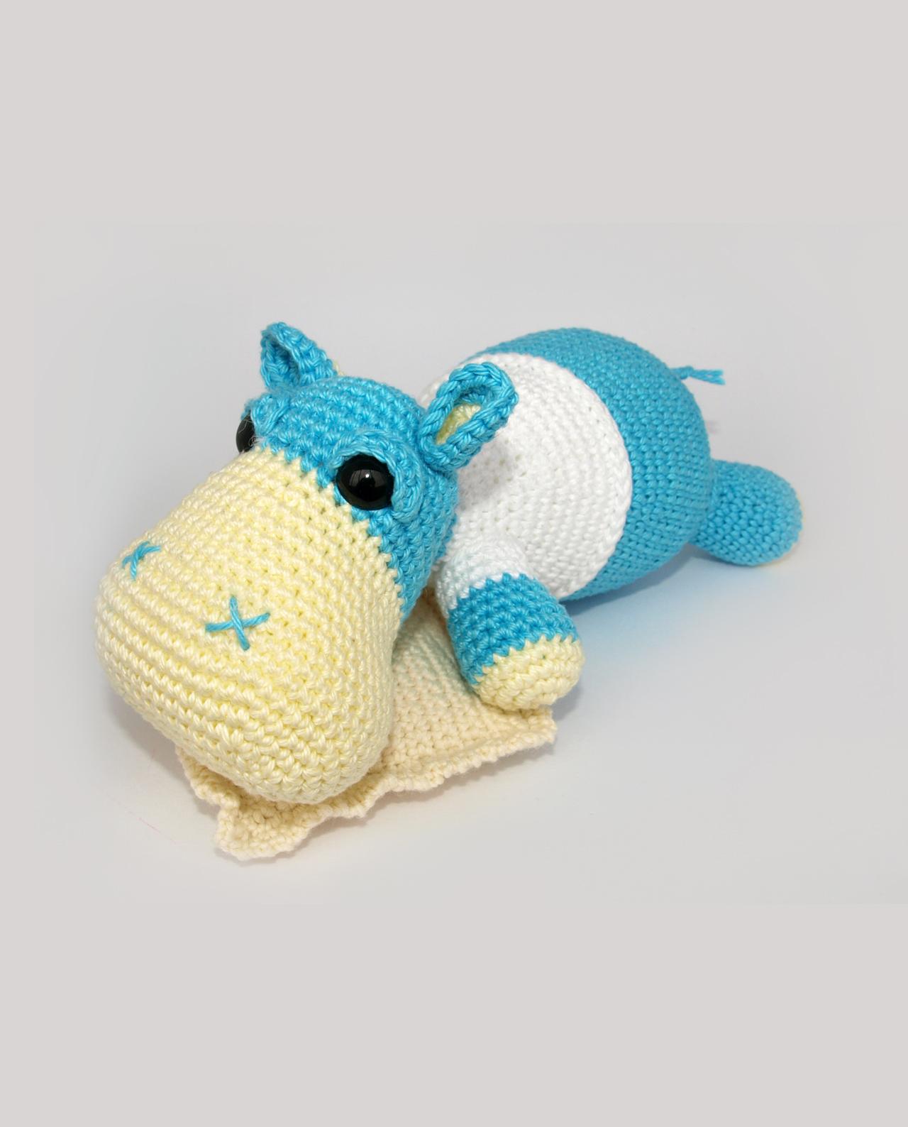 Wzor hipopotama amigurumi po polsku. Wzory amigurumi.