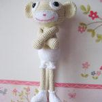 Małpka na szydełku
