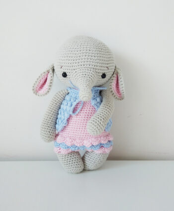 Słoń amigurumi. Słonik na szydełku.