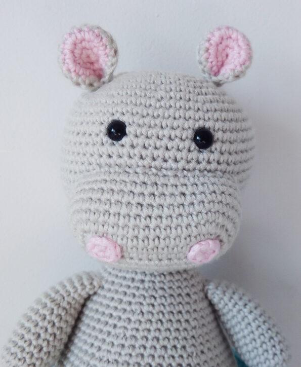 Hipopotam na szydełku. Hipopotam amigurumi.